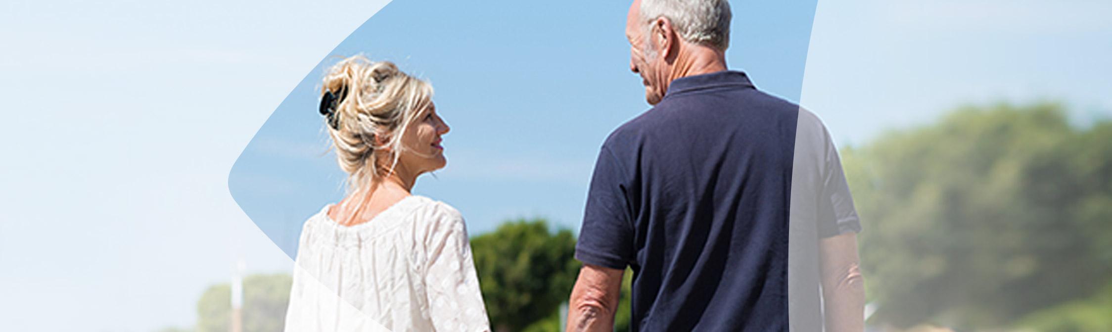 Older couple near the dock