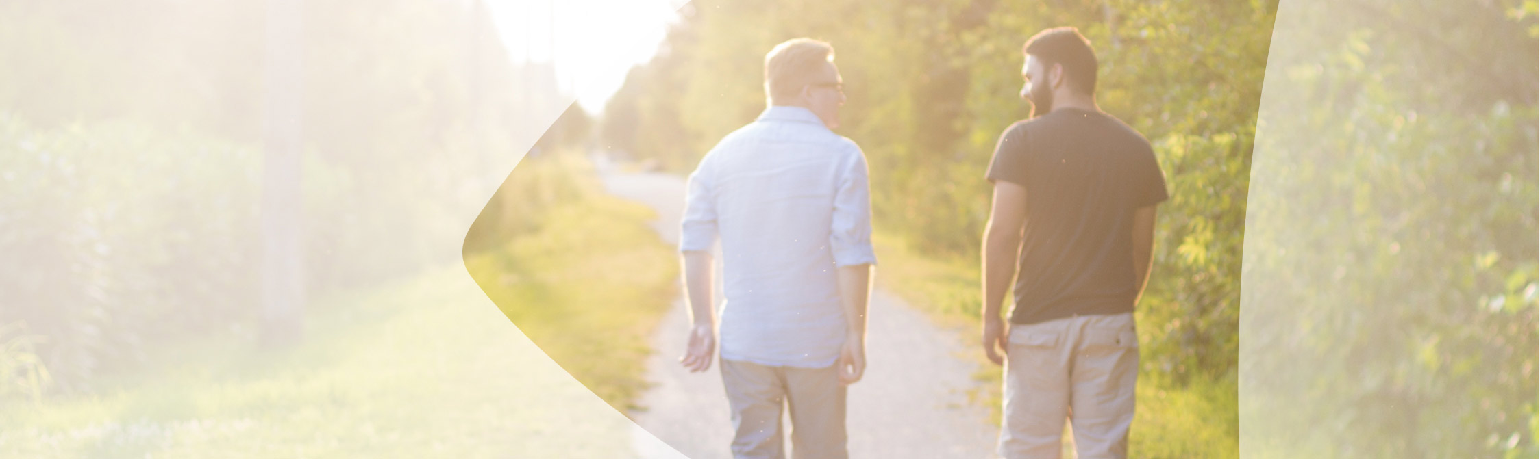2 Guys walking in park